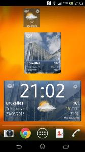 Sony Xperia Z - 3 widgets