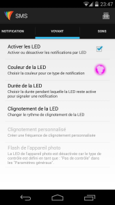 Light Flow Lite SMS Voyant