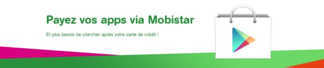 Payez vos apps via Mobistar