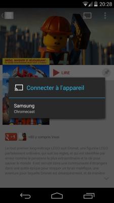 Google Play Films - Connecter à l'appareil