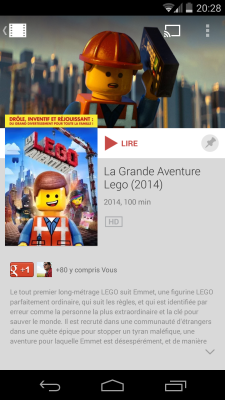 Google Play Films - Fiche