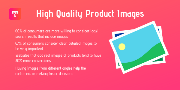Use high quality images on your ecommerce website