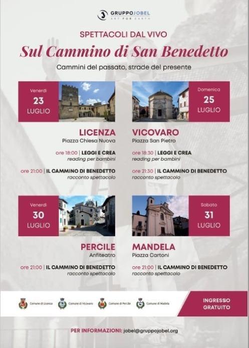 Concerti e spettacoli per bambini lungo il cammino di San Benedetto