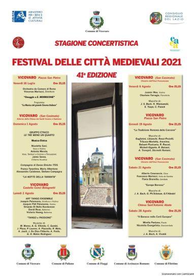 A Vicovaro i concerti del Festival delle Città Medievali