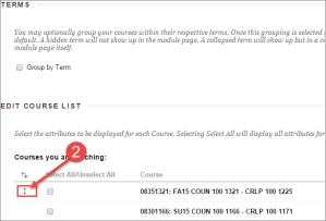 Edit Course List Order in Blackboard