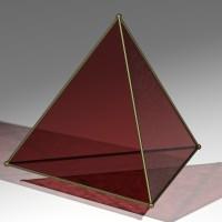 Tetraedro transparente