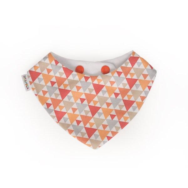 Bandana quitababas triángulos naranja