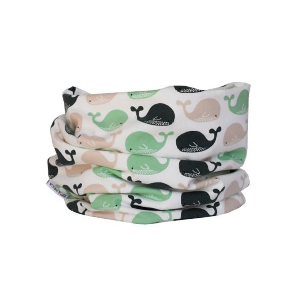 Cuello braga Ballenas Verde