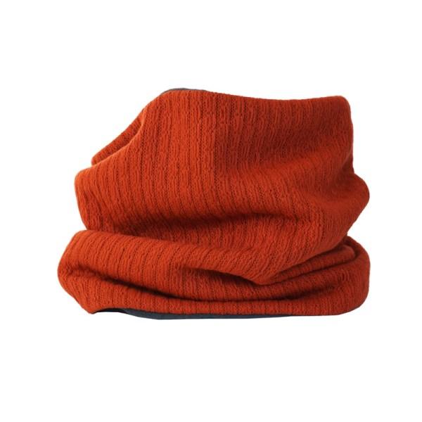 Cuello polar tipo braga para adultos color rojo-naranja tierra