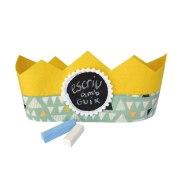 Corona aniversario amarilla