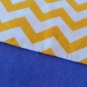 Combinación Azul con zigzag grande
