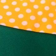 Combinación Verde y lunares en amarillo