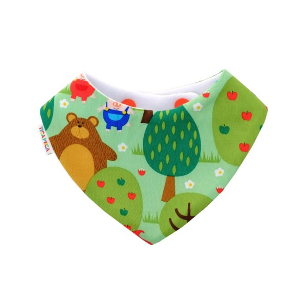 Babero antibabas absorbente de cuentos infantiles en verde