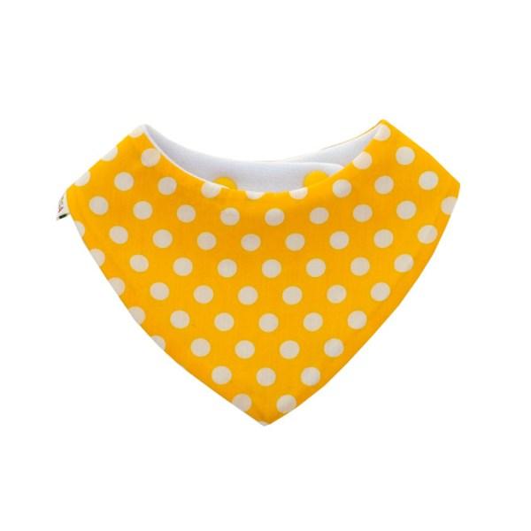 Babero quitababas absorbente de lunares en amarillo
