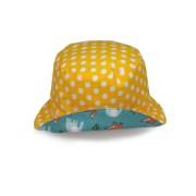 Gorro tipo pescador reversible. Protege del sol, es cómodo y ligero.