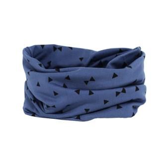Cuello entretiempo de triángulos negro y azul