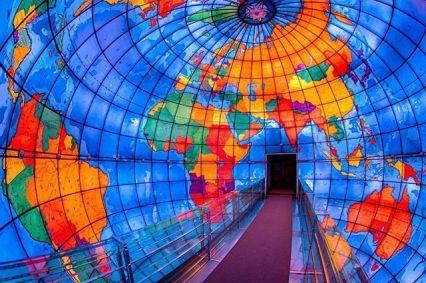 El interior de mapparium. foto: Pinterest