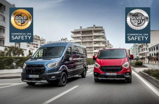 Euro NCAP'in ilk kez düzenlediği aktif güvenlik testinde Ford Transit ve Transit Custom'a 2 ayrı ödül