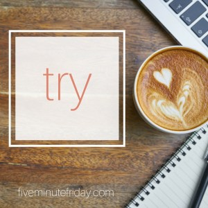 Five Minute Friday: Try