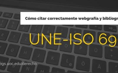 Cómo citar correctamente webgrafía y bibliografía: Norma UNE-ISO 690