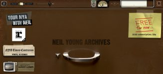 Neil Young Archives homepage