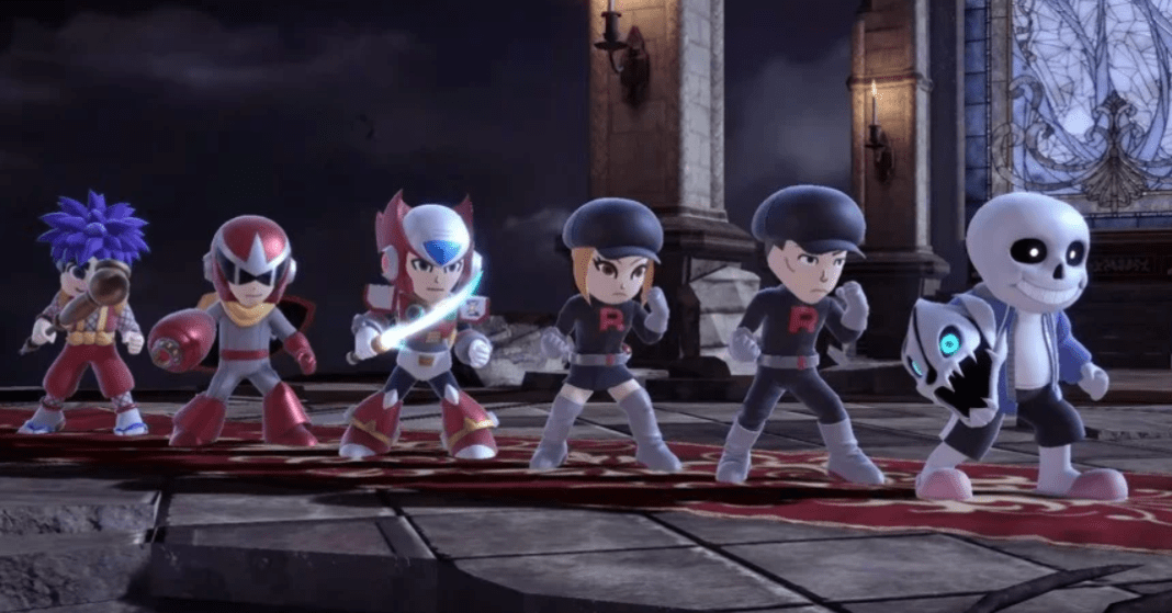 The lineup of new Mii costumes in Super Smash Bros. Ultimate.