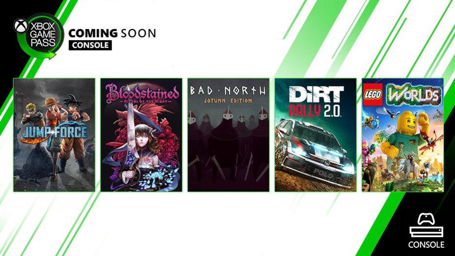 New titles headed to Xbox Game Pass soon