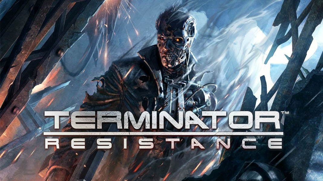 A terminator unit with most of the human skin burned away from Terminator: Resistance.