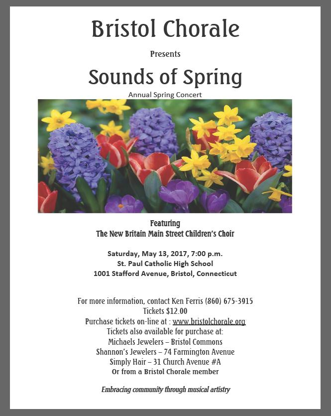 Sounds Of Spring Tickets In Bristol Ct United States