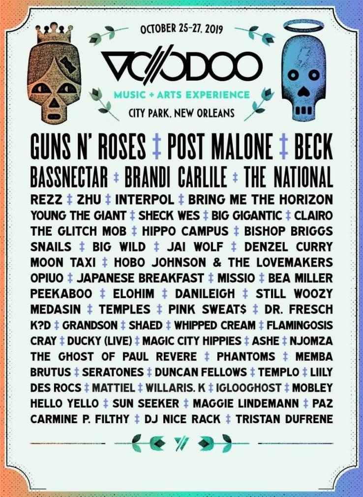 Voodoo Music & Arts Experience 2019 Lineup
