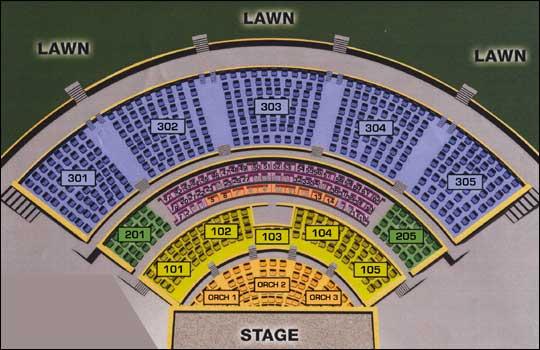 Verizon amphitheater seating chart st louis elcho table