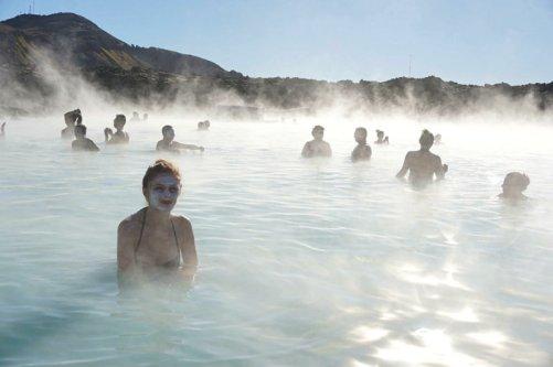 Mud mask at Blue Lagoon