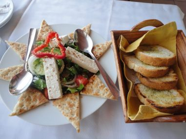 Dyonisos - Greek Salad with Grilled Bread