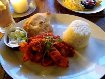 Sweet potato cauliflower curry - The Black Jug - Horsham