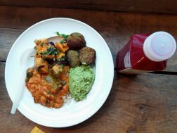 Falafel, curry, avocado spread and sweet potatoes - Lunch for two - Deliciously Ella - Seymour Place, London