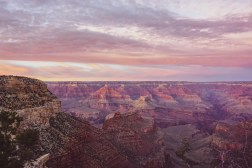 Grand Canyon South Rim - Bright Angel view at sunset