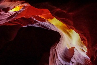 UpperAntelope Canyon shades and forms