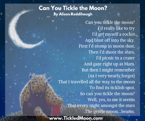 Can You Tickle the Moon poem by Alison Reddihough