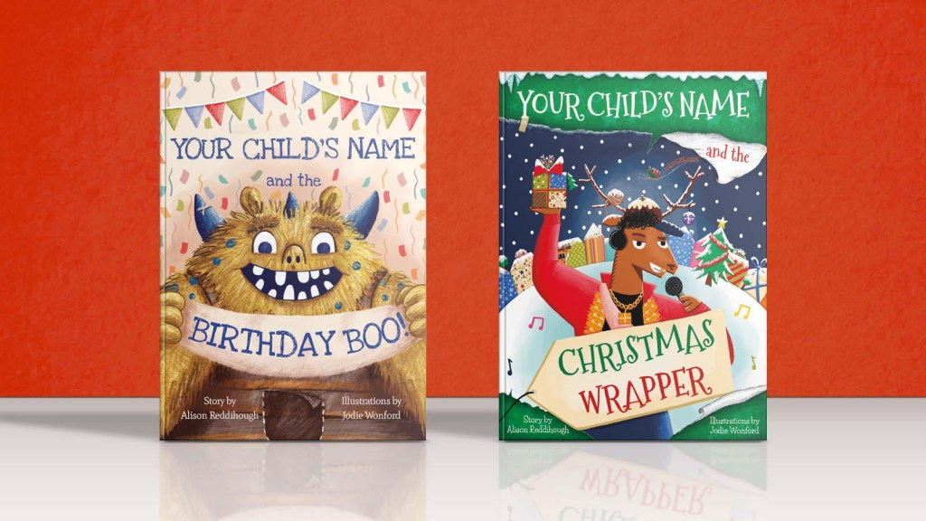 birthday-boo-and-christmas -wrapper-personalised books-hardback