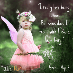 Child wishing she could be a fairy