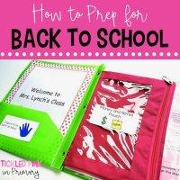 Back to School Prep and Meet The Teacher Night