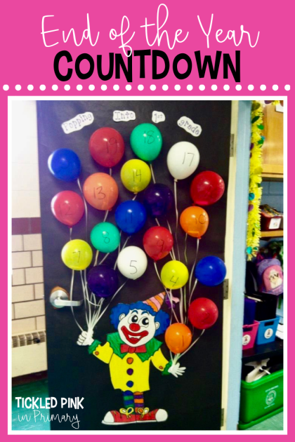 Try this end of the year countdown balloon popping bulletin board with 25 free activities #free #bulletinboard #endoftheyear #summercountdown