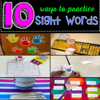 10 Ways to Practice Sight Words