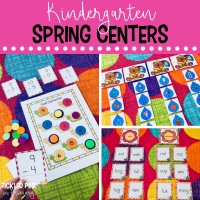 Try these spring themed Kindergarten centers for literacy and math!