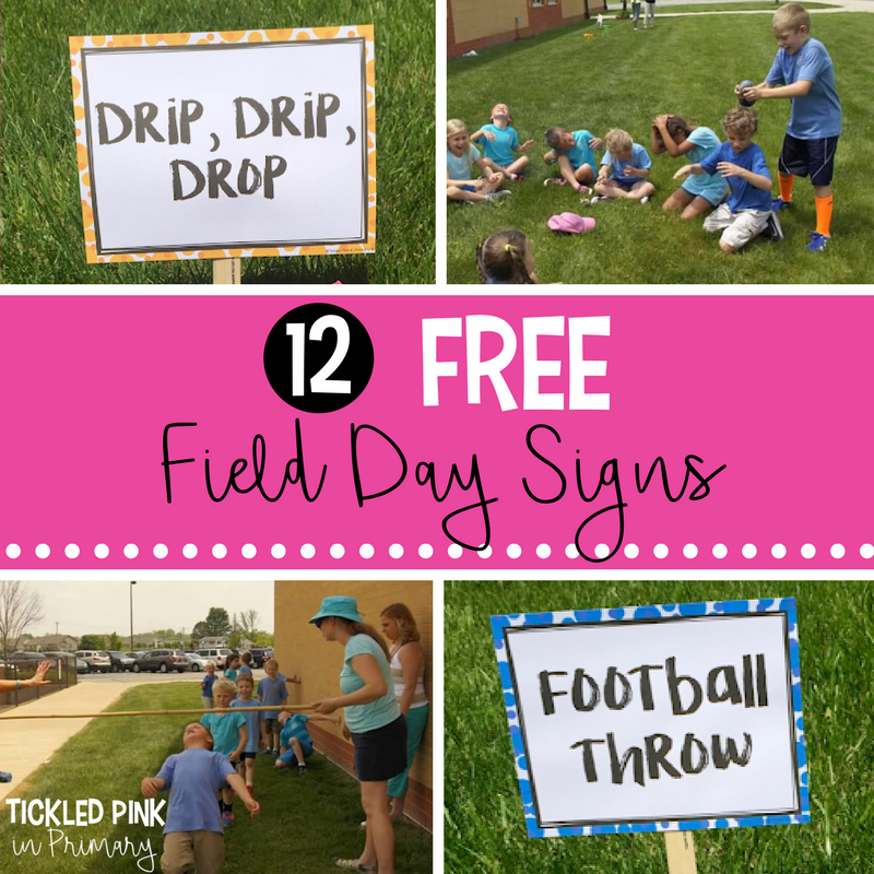 12 FREE Field Day Signs and Activity Ideas