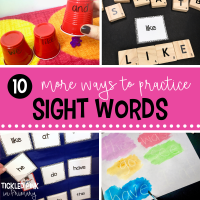 10 more ideas to practice sight words