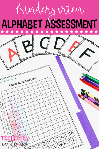 These Kindergarten testing and data tracking folders are a great way to see what your students know. Use these for report cards, parent teacher conferences, or for use with any of your reading or math assessments. Click to find which skills are included such as numbers, letters, beginning sounds, shapes, etc. #assessments #kindergarten #reportcards #alphabet #testing