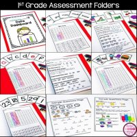 1st Grade Assessments Using Data Folders