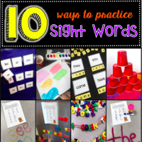 10 More Ways to Practice Sight Words
