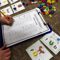 Building Words Literacy Center Game